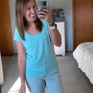 Loft Sunwashed Light Blue T-shirt